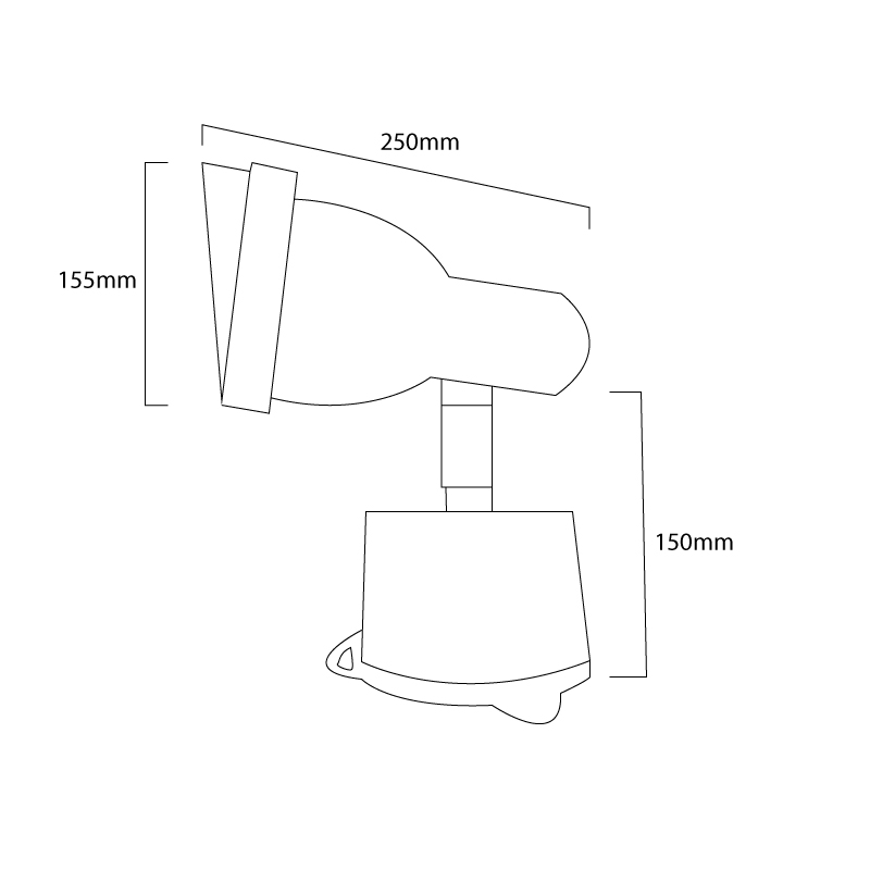 Parflood 38 Line Drawing Surface Mount