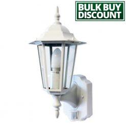 Regent White PIR Lantern