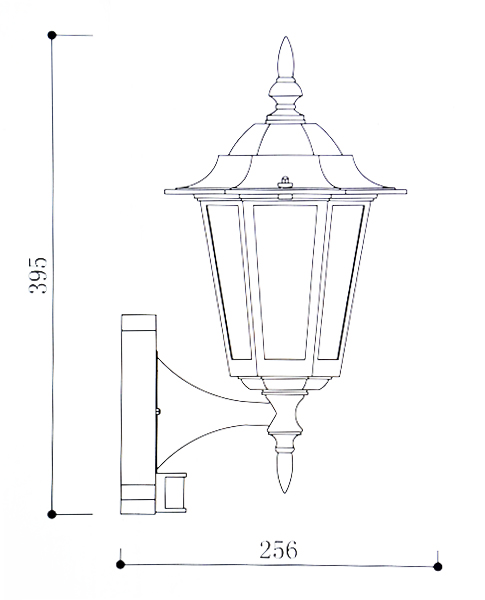 Regent white pir lantern outdoor motion sensor wall light lumena regent wall light with pir line drawing mozeypictures Images
