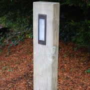 Radiata - Pine Sleeper Bollard Light - Lumena Lights