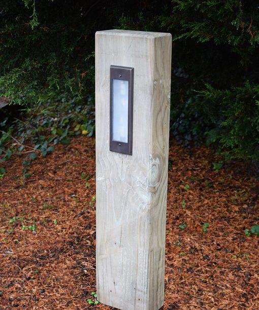 Radiata - Pine Sleeper Bollard Light - Lumena Lights