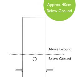 In Ground Root Mount system Dimensions