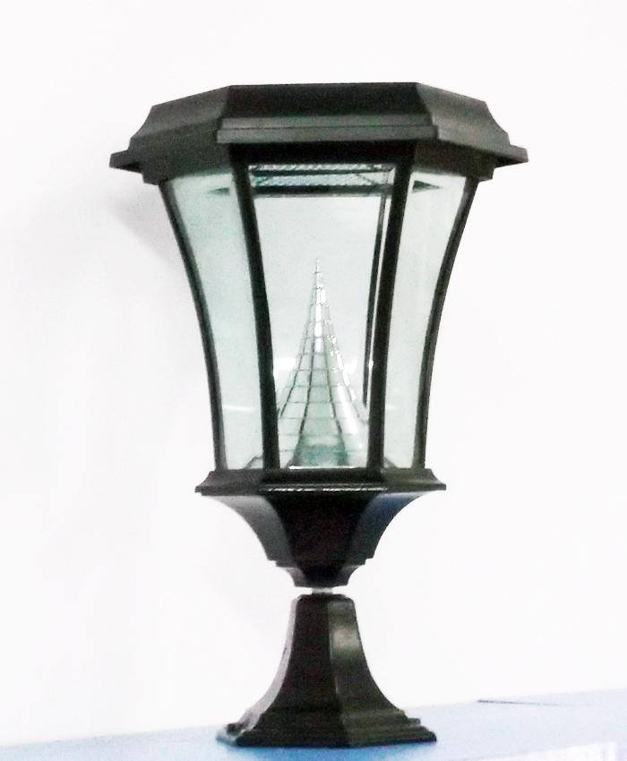 Welhome Bollard Light Garden Pedestal Led Solar Lamps: SOLAMON-PEDESTAL