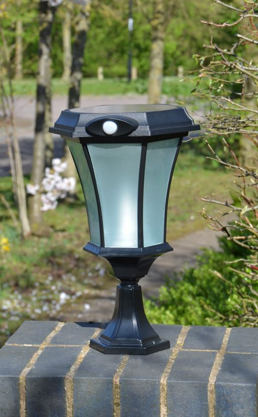 Solamon - Professional Solar Pedestal Light with PIR Motion Sensor - Solar Landscape Lighting