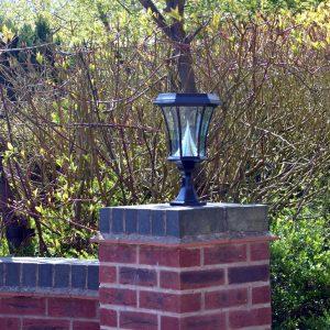 Two Solamon Pedestal Solar Lights