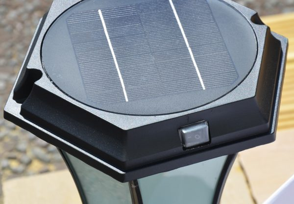 Solar Pedestal Light Switch