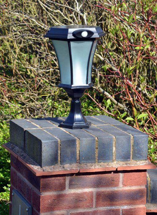 Solamon Solar Pedestal Light with PIR