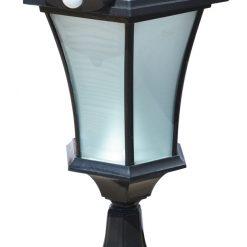 Solar Pedestal PIR Light