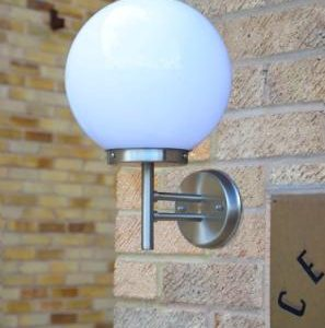 Stainless Steel Globe Wall Light