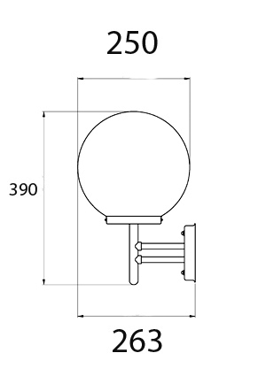 Spherica Outdoor Wall Light Dimensions