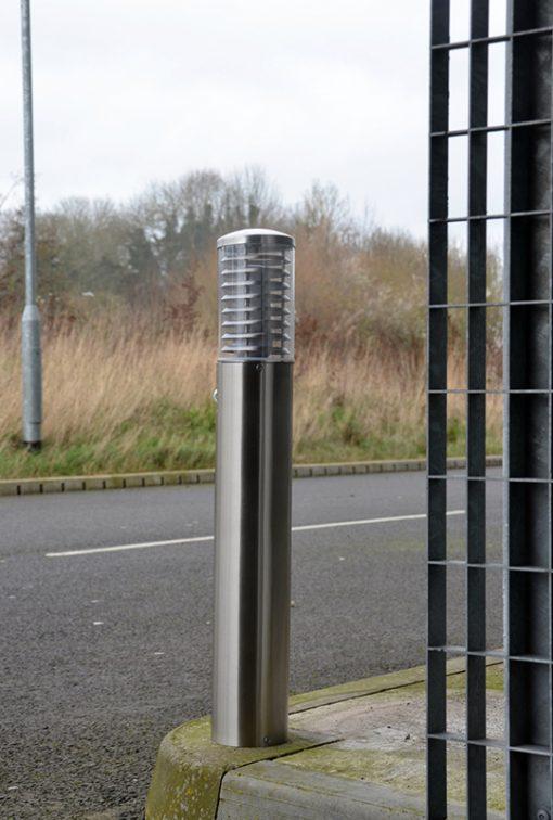 Stelled Photocell Bollard - Car Park Entrance