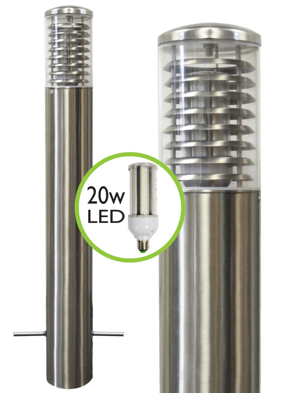 Stelled Marine Grade Stainless Steel Bollard Light Pro Root Mount