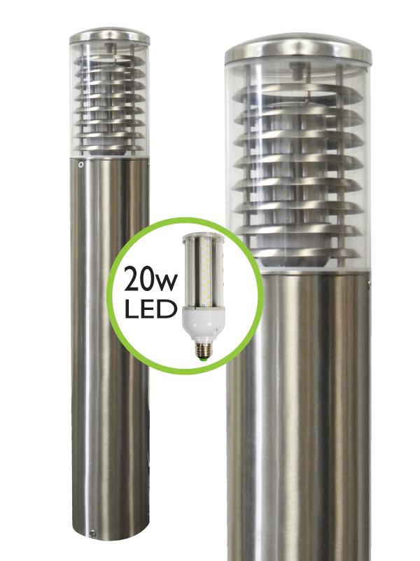 Stelled Marine Grade Stainless Steel Commercial Bollard Light