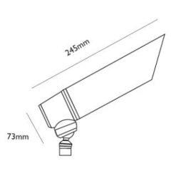 Brass Director Adjustable Spot Light Line Drawing