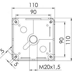 110mm x 110mm x 66mm Junction Box