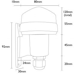 Line Drawing - Photocell Dimensions