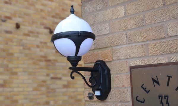 Mystic white PIR motion sensor wall light