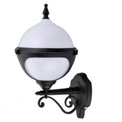 Mystic Globe photocell wall light