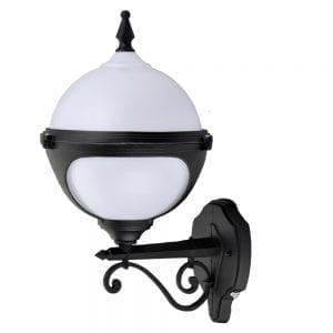 Mystic Globe photocell wall light