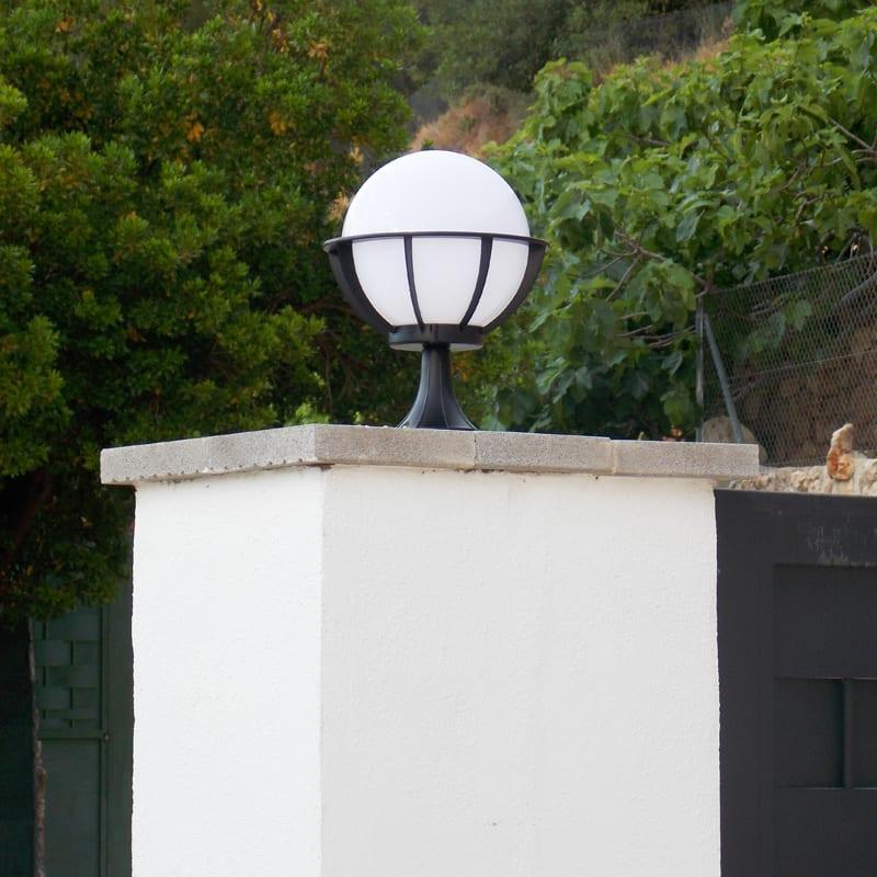 Saturn Pedestal Light Dimensions & Saturn - Decorative Globe Pedestal Light - Gate Post Light