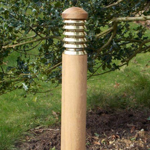 Tectona Wooden Bollard Light