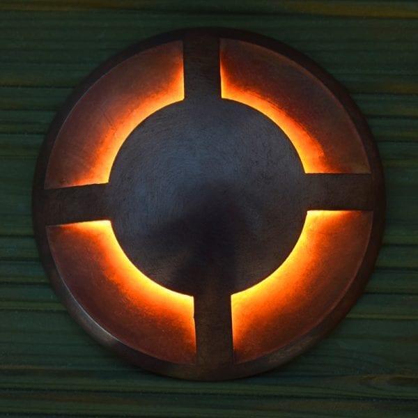 Quadmarka Copper 4 way decking light