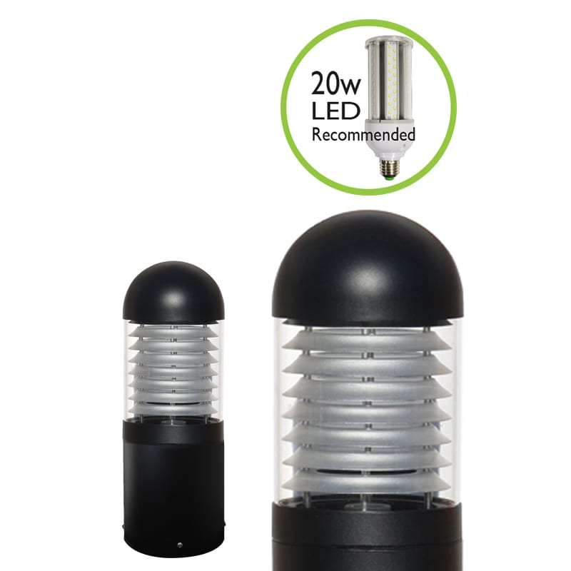 Ledifice commercial illuminated bollard light surface mounted ip65 zoom images mozeypictures Choice Image