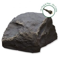 Luxrox 3 Slate Grey 12v Garden Rock Lights
