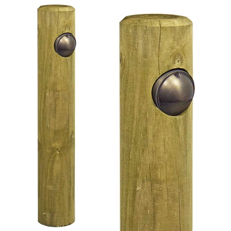 Low Voltage Post Light High Quality Solid Timber Pine Bollard