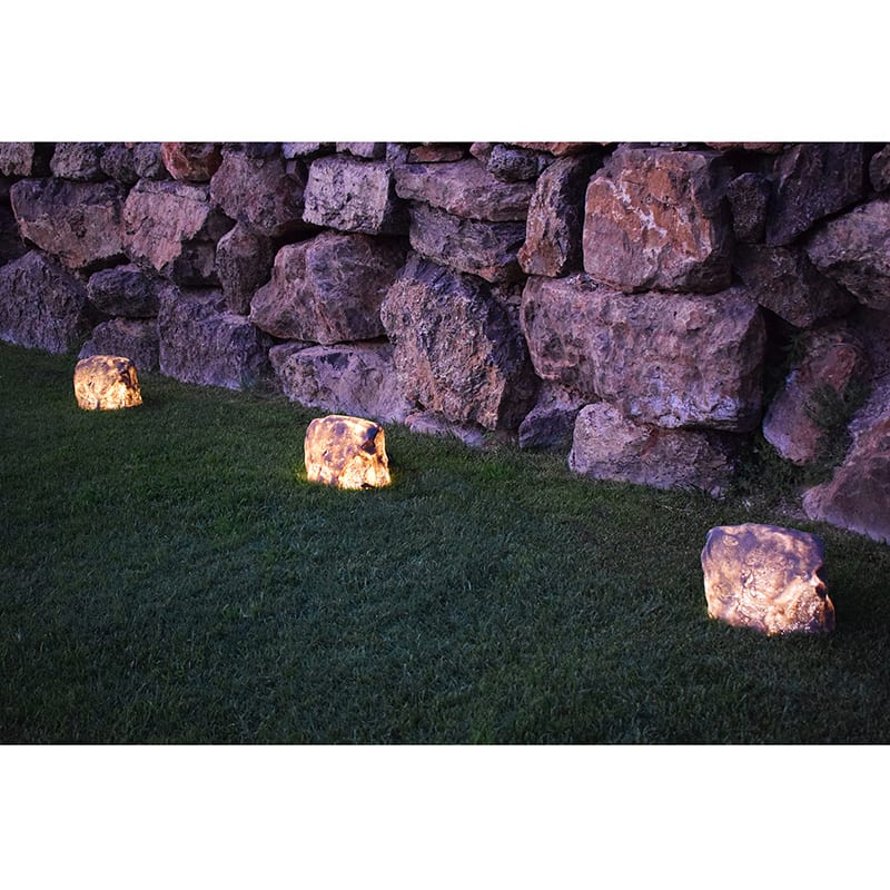 Outdoor Rock Lights Luxrox 12v Plug Play Rock Light White Granite
