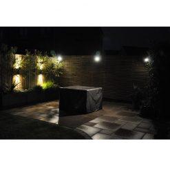 Smartspot & Hilospot Titanium in situ illuminated patio