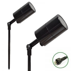 Black 12v garden spotlight