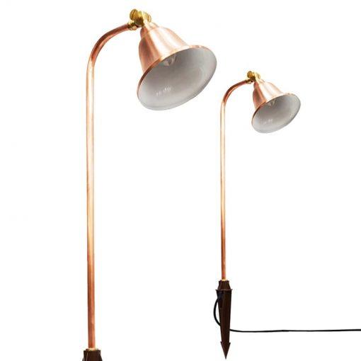 Charleston Belle - Natural Copper Adjustable Spreadlight with Ground Spike (12v)