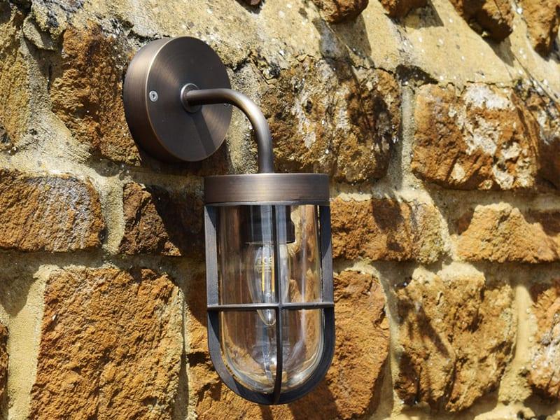 Solid Brass Wall Lights - Outdoor Wall Lights - Brass Lighting