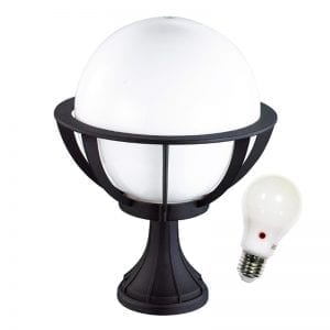 Dusk to Dawn Globe Pedestal light