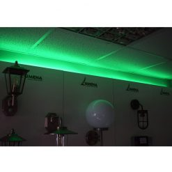 green strip light showroom - lediflex