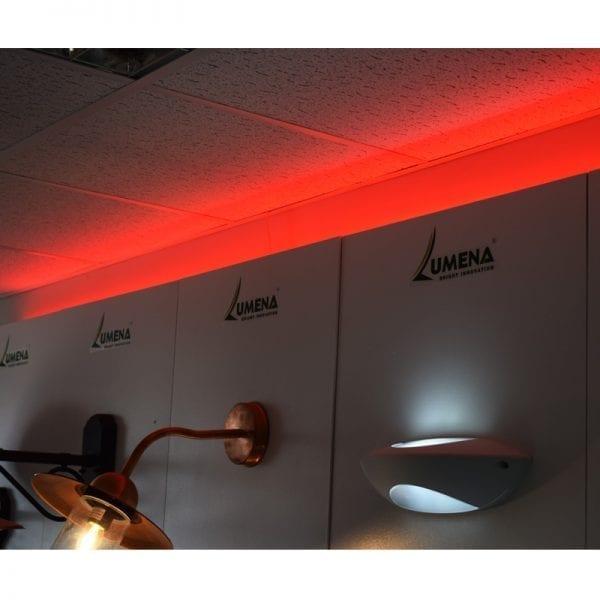 red strip light showroom - lediflex