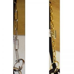 30cm / 50cm Hanging Chain & 2 x Split Rings for Lumena Hanging Lights - Stainless Steel or Brass