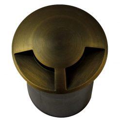 Duomarka Brass 240v recessed ground light