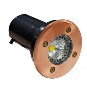 Natural Copper Deck Light Plug & Play Deck Light