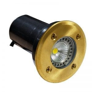 Natural Brass Brass 240v Recessed Light