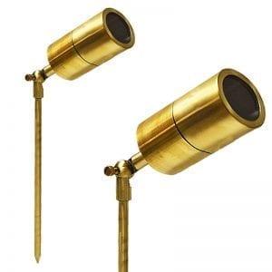 Ultra Spikelight Polished Brass Spotlight 240v