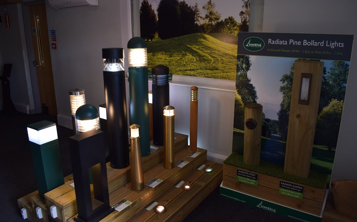 Bollard Lighting Display Showroom in Daventry, Northamptonshire