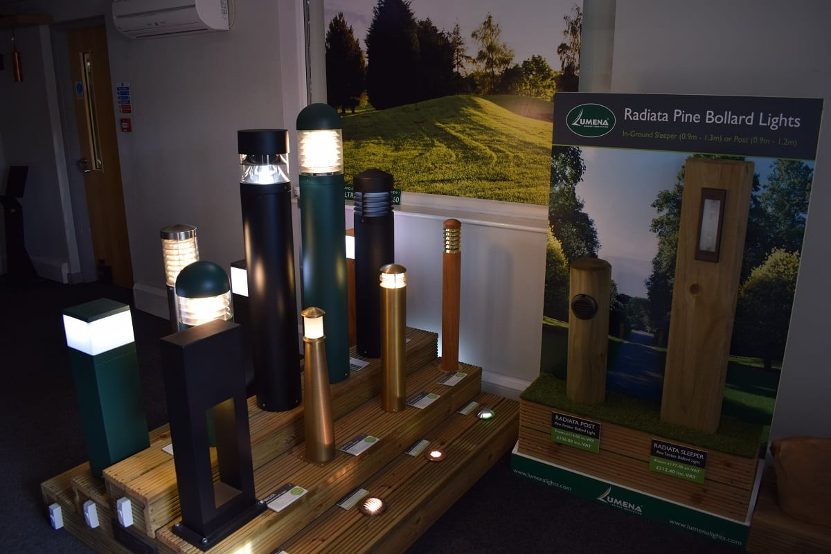 Bollard Lighting Display Showroom in Daventry, Northamptonshire