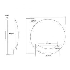 Monolite Step Light Line Drawing