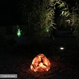 Lumena Rock Light - Image by Light My Space Lighting Design