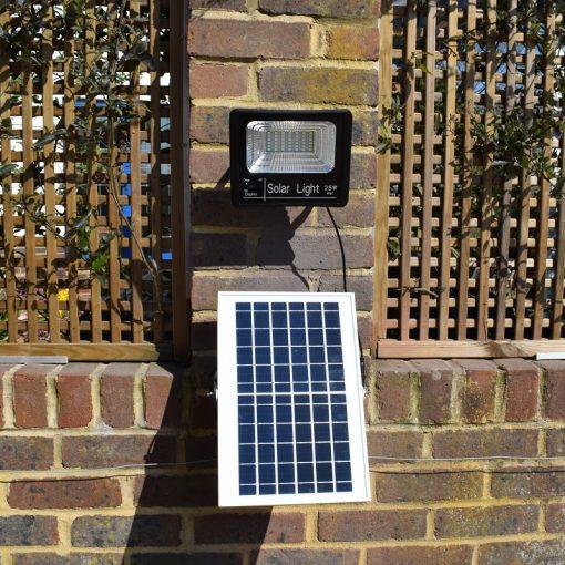 25w Lumelux Solar Flood Light Installed