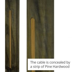 Radiata Back - pinewood hard strip concealing cable