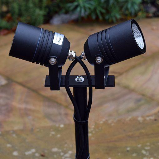 Alvaled Black Twin Spike Light in Situ