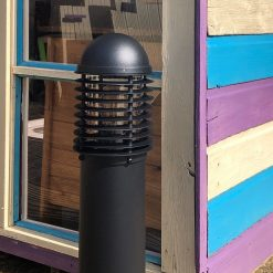 Domus Black Post Light with Louvres